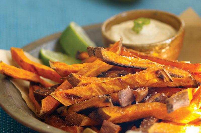 Sweet potato fries with a hint of lime.